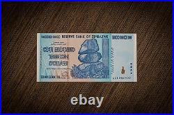 100% Genuine 1 Pcs x Zimbabwe 100 Trillion Dollars 2008 AA P91, UNC, MINT