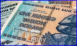 100% Original Zimbabwe 100 Trillion Dollars 2008 Aa Series P91 Unc Uv Passed Coa