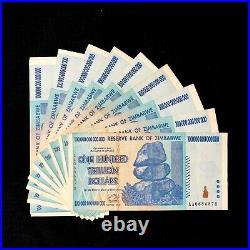 100 TRILLION DOLLAR ZIMBABWE AA 2008 SERIES P91 XF Condition, FAST SHIP, COA