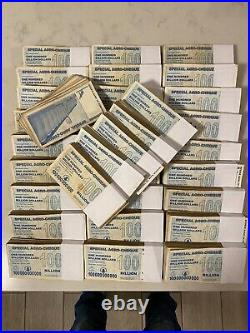 100 Zimbabwe Banknotes, $100 Billion Dollars, 2008 Special Agro-Cheque Used