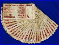 100 x 50 Billion Zimbabwe Dollars Special Agro Cheque 2008 Bundle 100PCS