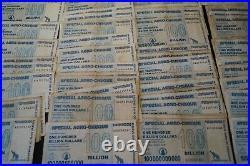 100 x ZIMBABWE 100 BILLION DOLLAR SPECIAL AGRO-CHEQUE, 01.07.2008, gebraucht /