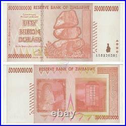 100x ZIMBABWE 1 5 10 20 50 Billion Dollars SET 5 PCS P-83 84 85 86 87 XF-AUNC