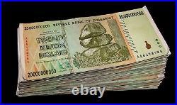 150 x Zimbabwe 20 Billion Dollar banknotes- paper money currency
