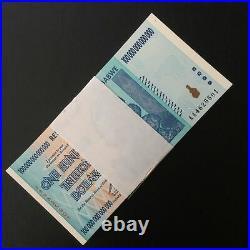 1/4 Bundle! Zimbabwe 100 Trillion dollars X 25 Pieces (PCS), AA/2008, P-91, UNC