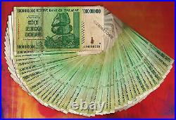 1 Billion Zimbabwe Dollars x 50 Banknotes AA 2008 Authentic Currency 50PC Bundle