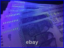 2008 100 Trillion Dollar Zimbabwe Zim Bond P90 Unc Uv Pass With Coa Certificate