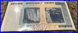 2008 ZIMBABWE 100 TRILLION DOLLARS BANKNOTE AA P-91 GEM Unc Note From Bundle