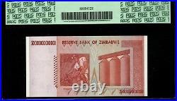 2008 Zimbabwe 20 Trillion Dollars PCGS 70 PPQ Perfect New AA Series Ultra Rare