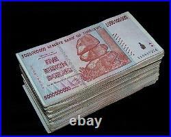 200 x Zimbabwe 5 Billion Dollar bank notes -2 bundles