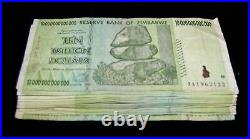 20 x Zimbabwe 10 Trillion Dollar banknotes- paper money currency 1/5 bundle