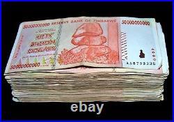 30 x Zimbabwe 50 Billion Dollar banknotes-AA/AB 2008/circulated currency