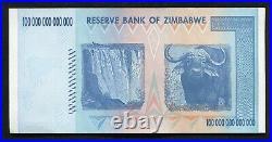 (50) 2008 100 Trillion Dollars Reserve Bank Of Zimbabwe, Aa P-91 Gem Unc