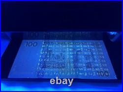 Authentic UNC 100 Trillion & One Hundred Zimbabwe Dollar Banknote Display. Rare