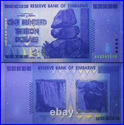 Authentic ZIMBABWE 100 TRILLION DOLLAR Banknote, P-91, 2008, UNC