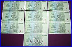 Bundle (100 Pcs) Zimbabwe 10 Trillion Dollars Premium Notes. Great Condition