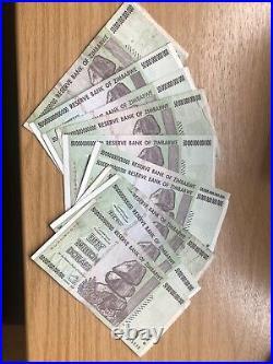 Genuine Used Zimbabwe 10 X 50 Trillion Dollar Circulated Banknote P90 Aa 2008