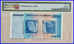 Official Certified 2008 Zimbabwe 100 Trillion Dollar P91 Aa Authentic Pmg 65 Epq