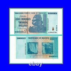 P 91 Simbabwe Zimbabwe 100 Trillion Dollars 2008 Unc. RB134148Vv
