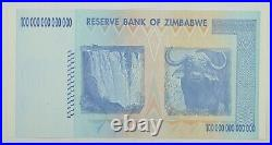 RARE- 100 TRILLION DOLLAR BILL 2008 Zimbabwe Gem Uncirculated Currency Note