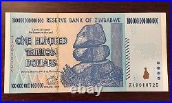 Replacement Zimbabwe 100 Trillion Dollars P91r Za 2008 Flawless Crisp Unc Low Sn