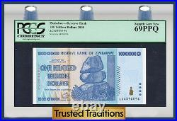 Tt Pk 91 2008 Zimbabwe 100 Trillion Dollars Reserve Bank Pcgs 69 Ppq None Finer