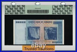 Tt Pk 91 2008 Zimbabwe 100 Trillion Dollars Reserve Bank Pcgs 70 Ppq Perfect New