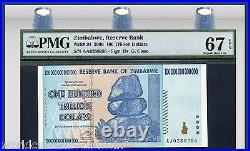 ZIMBABWE 100 TRILLION DOLLARS P91 2008 Bundle Brick UNC Largest Denomination Lot