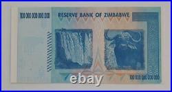 ZIMBABWE 100 TRILLION Dollars note