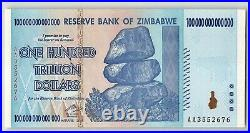 ZIMBABWE 100 Trillion Dollars, 2008 AA P-91, PCGS 66 PPQ Gem New UNC