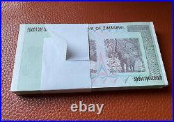 ZIMBABWE 2008 P90 50 Trillion Dollars CONSECUTIVE. GEM UNC Full Pack 100 PCS