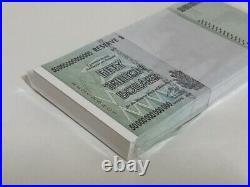 ZIMBABWE 2008 P90 50 Trillion Dollars Full Bundle 100pcs