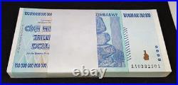 ZIMBABWE 2008 P91 100 Trillion Dollars Full Bundle 100pcs UNC 03323010332400