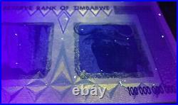 ZIM AA Series 2008 Zimbabwe 100 Trillion Dollars P91 UNC UV Inspected With COA
