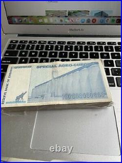 Zimbabwe 100 Billion Dollars Agro Cheque 100 pieces