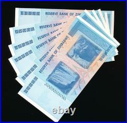 Zimbabwe 100 TRILLION DOLLAR BILL AA/2008 uncirculated 100% GENUINE (price for1)