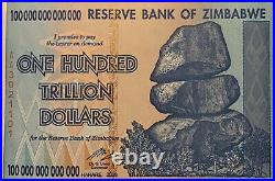 Zimbabwe 100 Trillion Dollar Banknote. Dated 2008. P91. Uncirculated