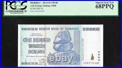 Zimbabwe 100 Trillion Dollars (2008) P-91 PCGS 68 PPQ UNC
