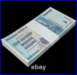 Zimbabwe 100 Trillion Dollars  AA/2008, P-91,100 pieces (non-consecutive)