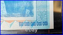 Zimbabwe 100 Trillion Dollars Error With Fancy Number, 2008 AA, Pick 91, Rare