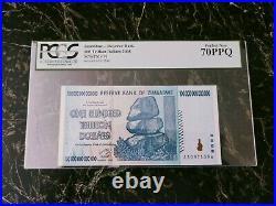 Zimbabwe 100 Trillion Dollars Pcgs 70 P91 Unc Epq/ppq/pcgs 100 Series Aa 2008