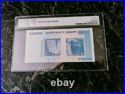 Zimbabwe 100 Trillion Dollars Pmg 65 P91 Unc Epq/ppq/ Error 100 Series Aa 2008