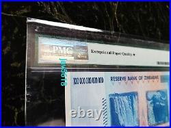 Zimbabwe 100 Trillion Dollars Pmg 70 Top Pop Star Epq P91 Rarest