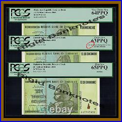 Zimbabwe 10 Trillion Dollars ERROR (3 Pcs Set), 2008 AA PCGS 100 Trillion Series