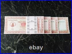 Zimbabwe 20000 Dollars Bundle 100 Bearer Check Pre Series 100 Trillion 2003 Unc