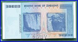 Zimbabwe 2008 100 Trillion Dollars, Aa P-91 Unc 50 Pcs