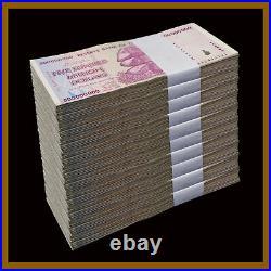 Zimbabwe 500 Million Dollars x 1000 Pcs Brick, 2008 AA/AB Cir, 100 Trillion Seri