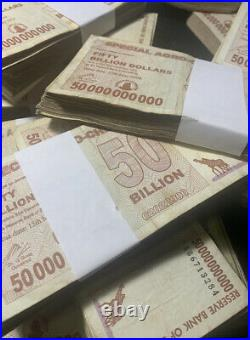 Zimbabwe 50 Billion Dollars Agro Cheque x 1500 = 15 Bundle, 2008 Used (Cir)