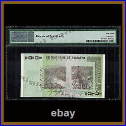 Zimbabwe 50 Trillion Dollars, 2008 P-90 AA PMG 67 EPQ (Low Serial Number)