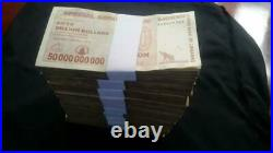 Zimbabwe $50 billion Dollars. 2008. Agro Cheque. 1000 pieces. Brick. Used. Circ